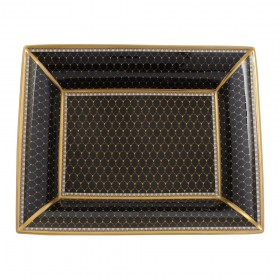 Gordon Castle Antler Trellis Black Trinket Tray
