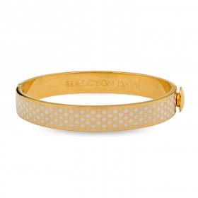 10MM SALAMANDER BANGLE CREAM & GOLD