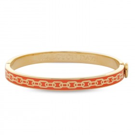 6mm Skinny Chain Bangle Orange & Gold