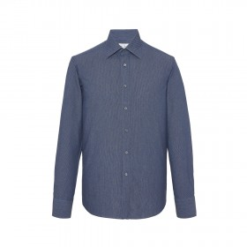 MR FISH Printed Japanese Chambray Shirt