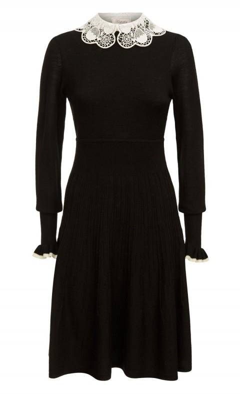Bliss Sleeved Dress Black