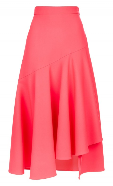 Mercury Plain Ruffle Skirt Flamingo