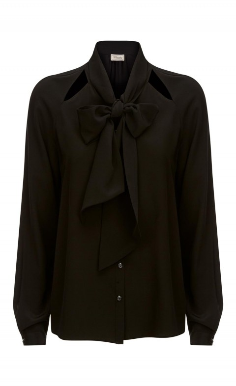 Purity Bow Shirt Black