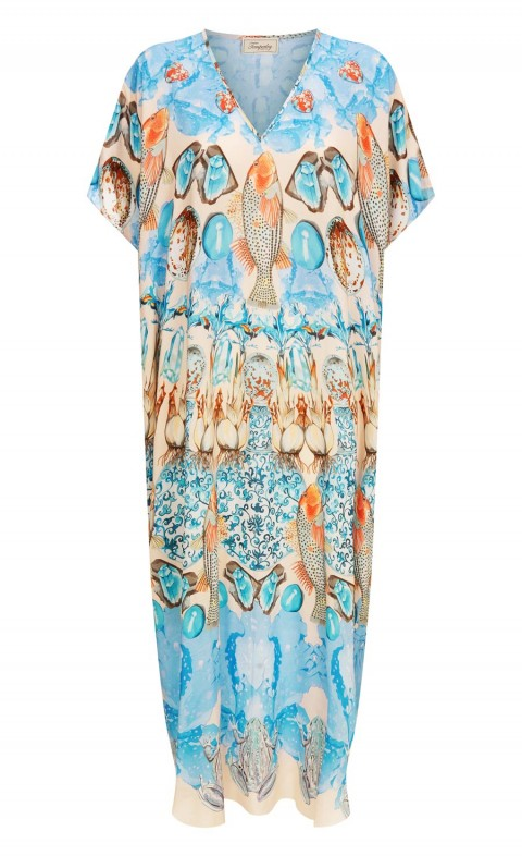 Quartz Long Kaftan Shell Mix LG