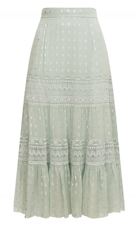 Wondering Lace Skirt Pale Lichen Mix