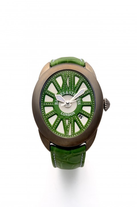 The Regent Beau Brummell Green Diamond Watch Titanium Case