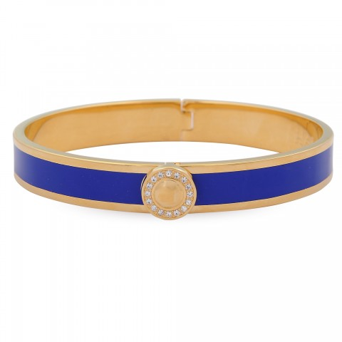Sparkle Button Bangle, Cobalt & Gold