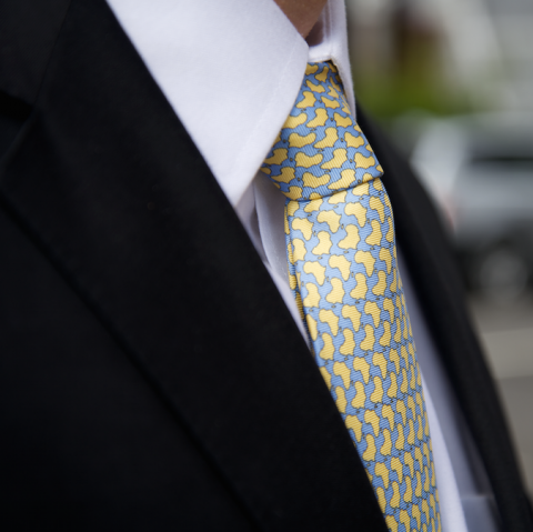 Reddendi Africa Handmade Pure Silk Tie Lemon Yellow