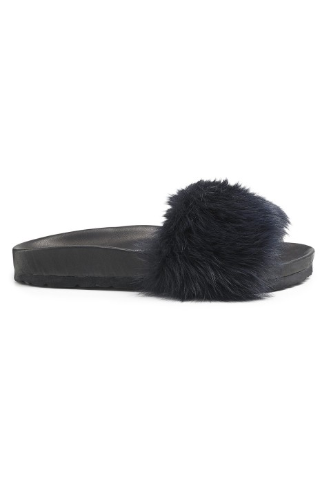 Toscana Midnight Shearling Slides