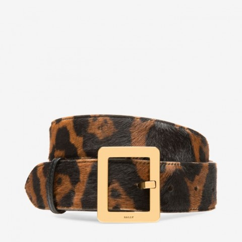 Belle Belt 40mm Women's Ponyhair & Leather Belt Leopard