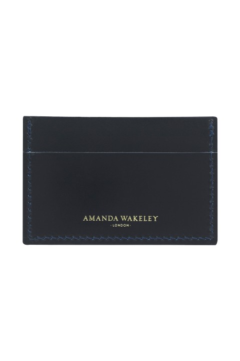 Precious Little Things Navy Leather Card Holder