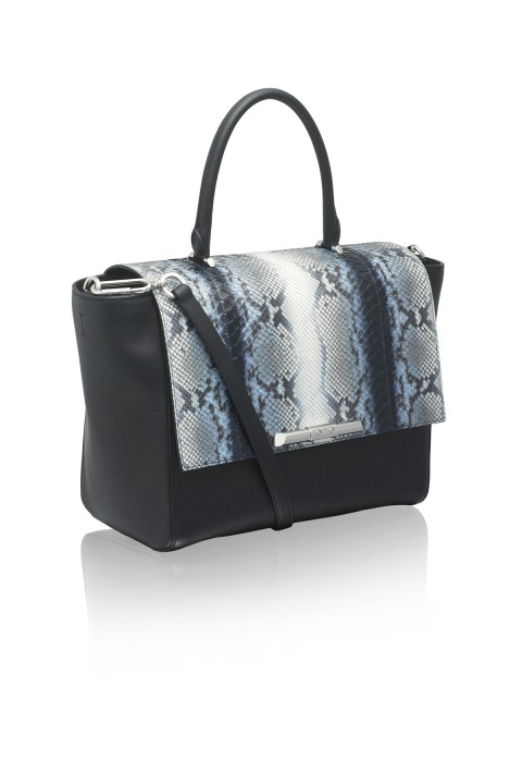 Newman Midnight Python Tote Bag