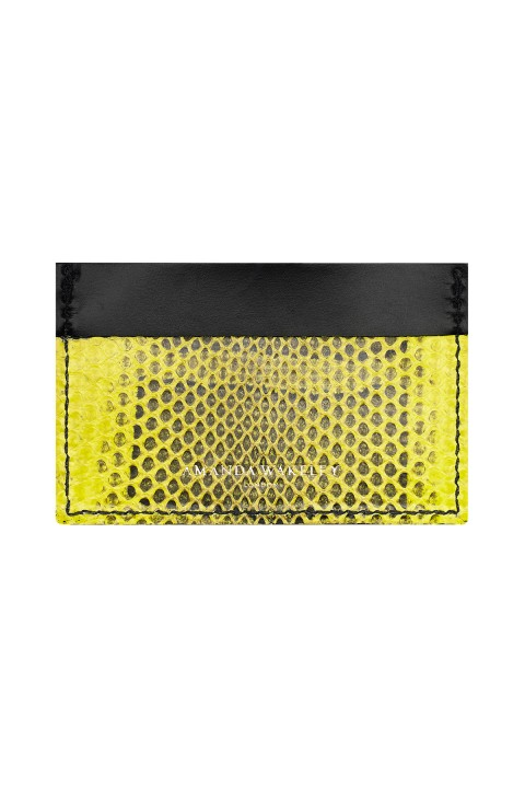 Retail Is Therapy Acid Leather Card Holder