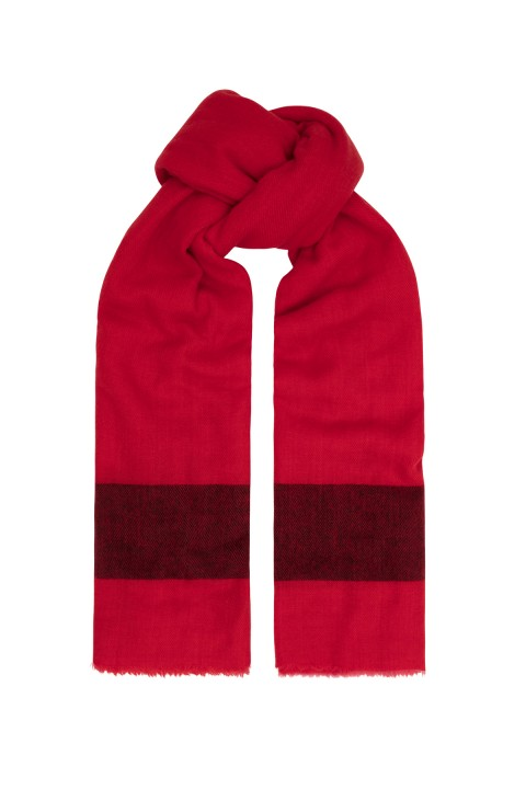 Red Stripe Cashmere Scarf