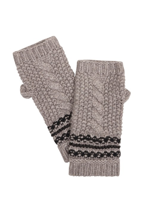 Taupe Cable Knit  Gloves