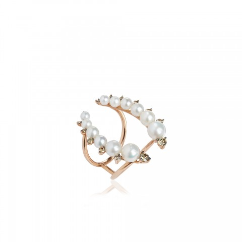 Diamonds and Pearls Ring