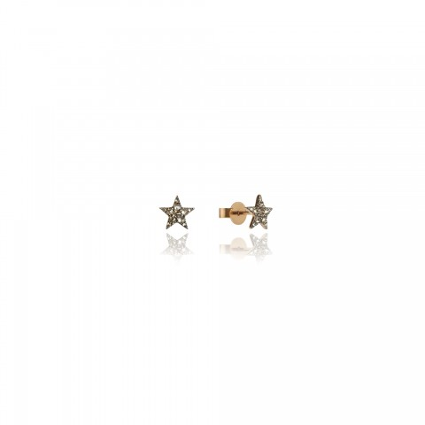 Love Diamonds Star 18ct Rose Gold Earrings