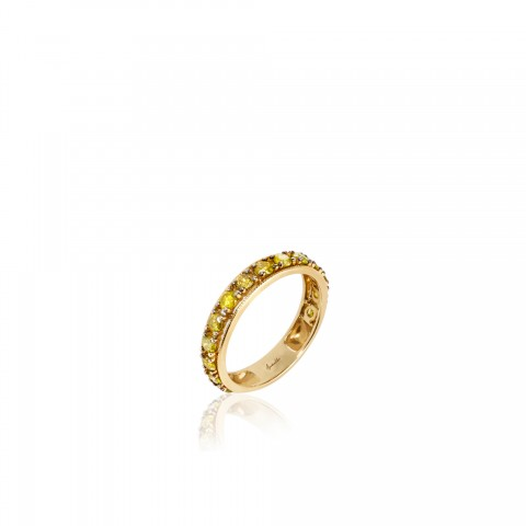 Dusty Diamonds Eternity 18ct Yellow Gold Ring