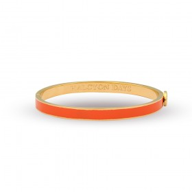 6mm Skinny Plain Bangle Orange & Gold
