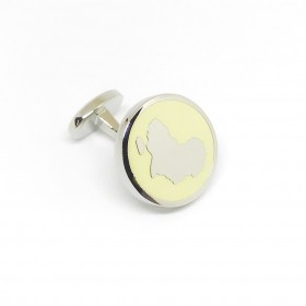 Reddendi Africa Silver Cufflinks Lemon Yellow