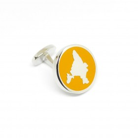 Reddendi India Silver Cufflinks Saffron