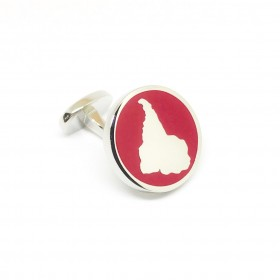 Reddendi Latin America Silver Cufflinks Red