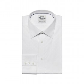 MR FISH White on White Paisley Jacquard Shirt