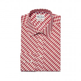 MR FISH Red Herring Print Shirt