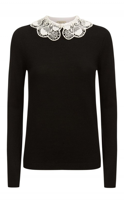 Bliss Collar Jumper Black