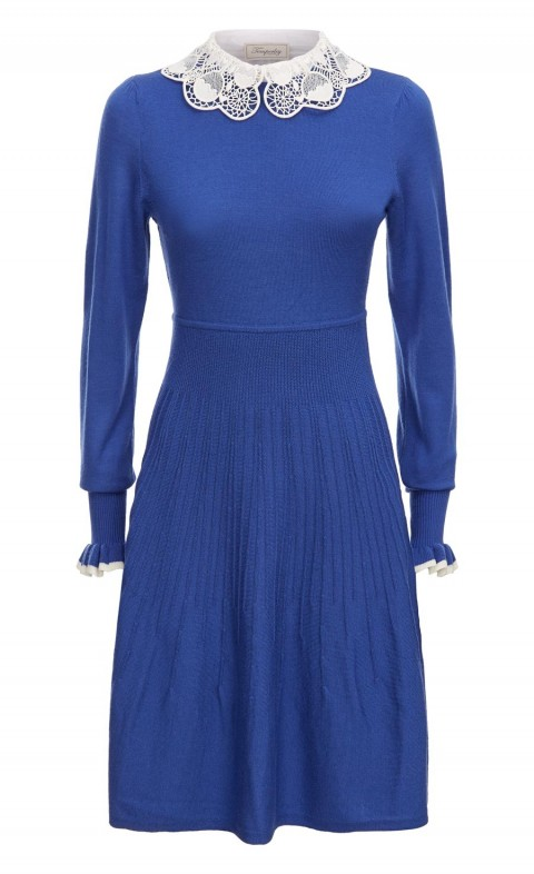 Bliss Sleeved Dress French Blue