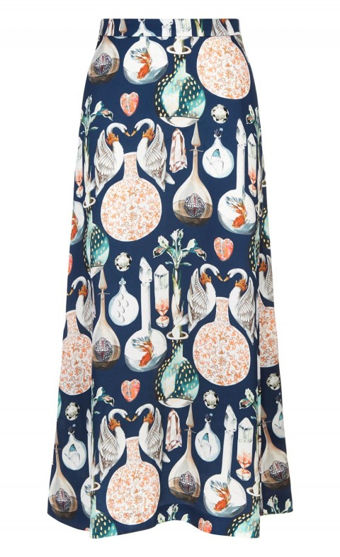 Love Potion Midi Skirt Midnight Mix