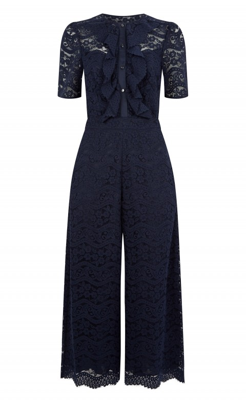 Lunar Lace Jumpsuit Midnight