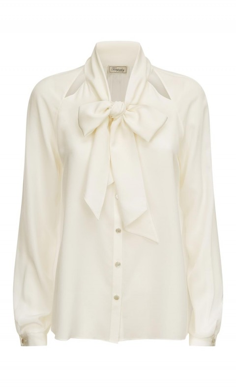 Purity Bow Shirt White