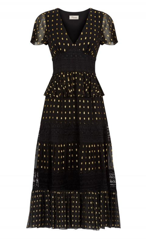 Wondering Lace Dress Black Mix