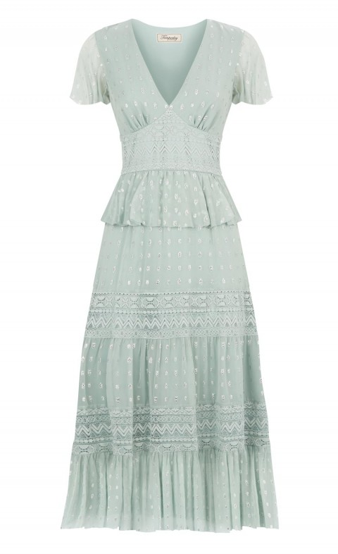 Wondering Lace Dress Pale Lichen Mix