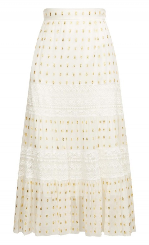 Wondering Lace Skirt White