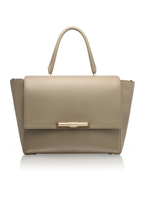 Newman Linen Beige Leather Bag