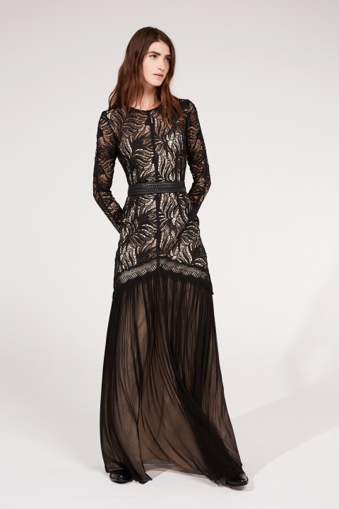 Black Paisley Lace Dress