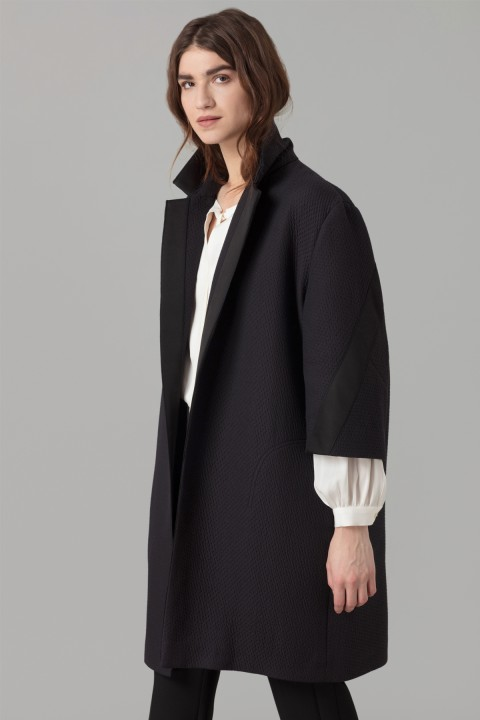 Amanda Wakeley Midnight Cloque Coat