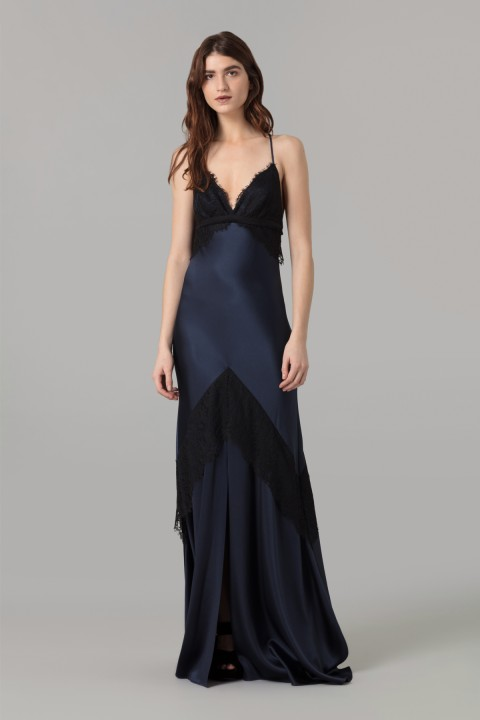 Midnight Crepe Dress