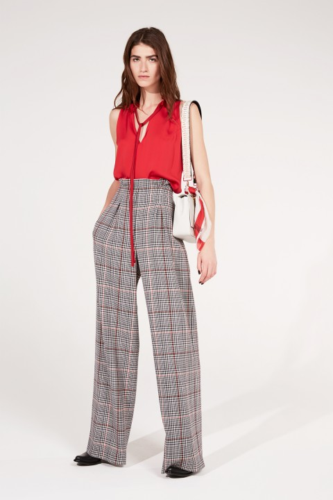 Amanda Wakeley Prince of Wales Wide Leg Pant