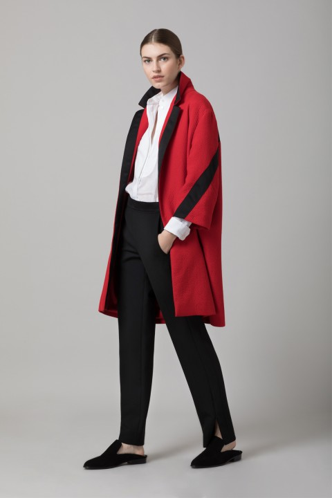 Red Cloque Coat