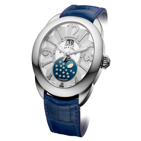 Regent 1609AD Diamond Watch Leather Strap