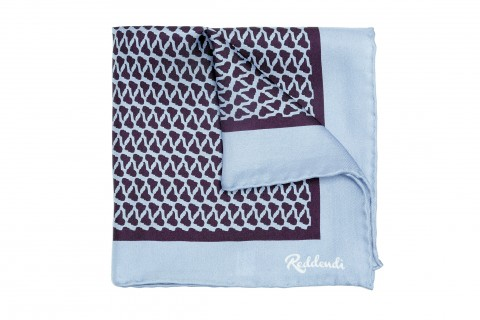 Reddendi Latin America Handmade Pure Silk Pocket Square Slate
