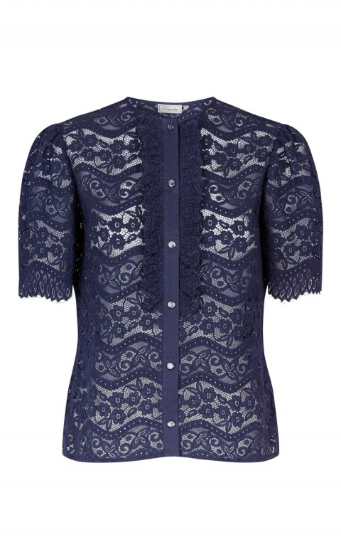 Lunar Lace Top Midnight