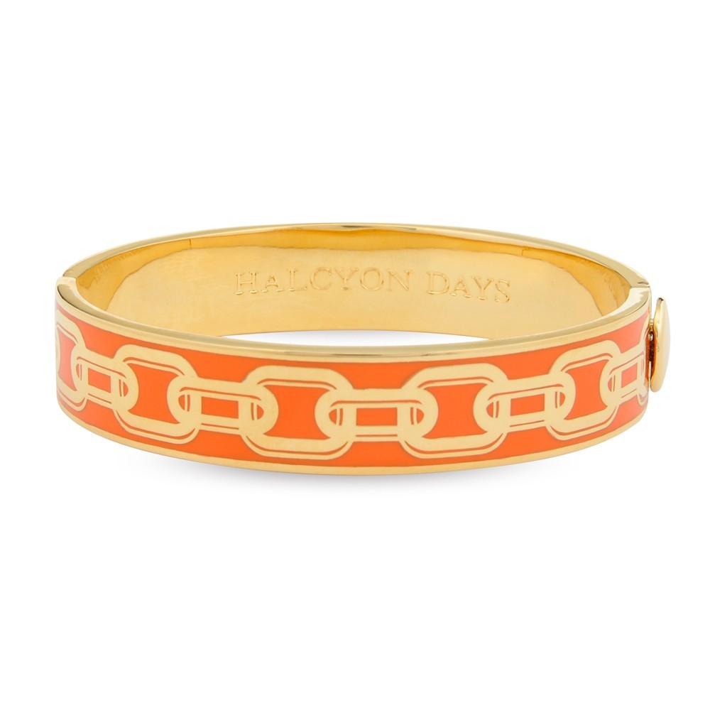 13mm Chain Bangle Orange & Gold
