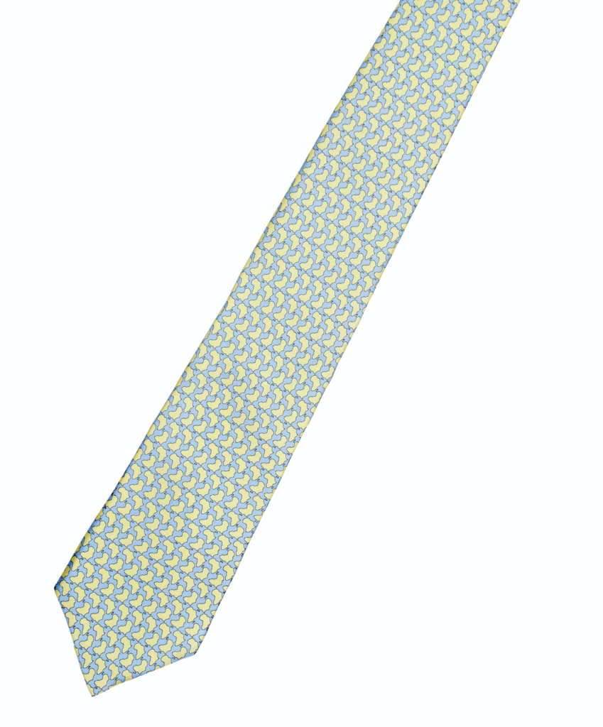 Africa Handmade Pure Silk Tie Lemon Yellow Long