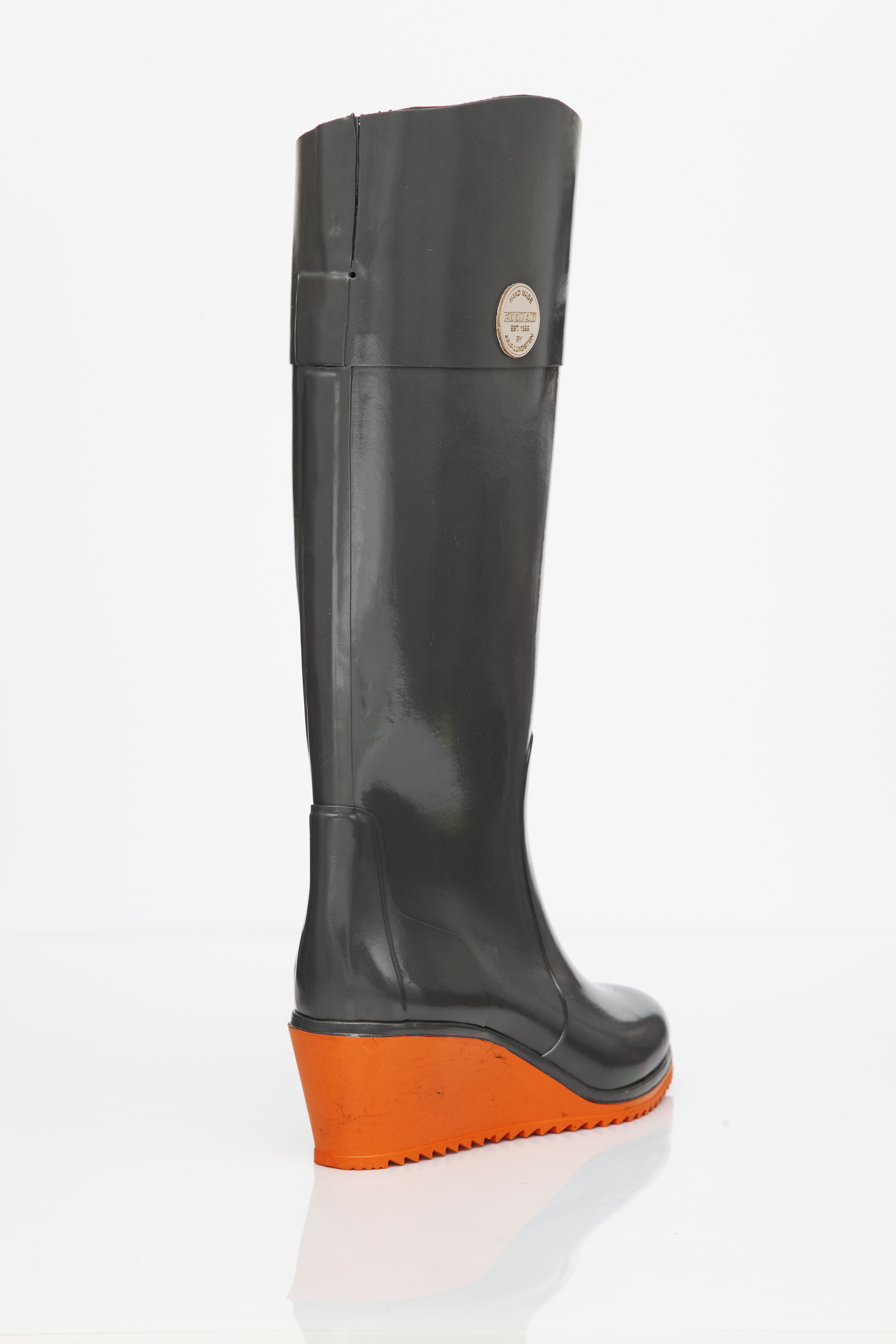 FINSK NOKIAN 118-22 KNEE HIGH PULL ON WEDGE BOOTS BACK