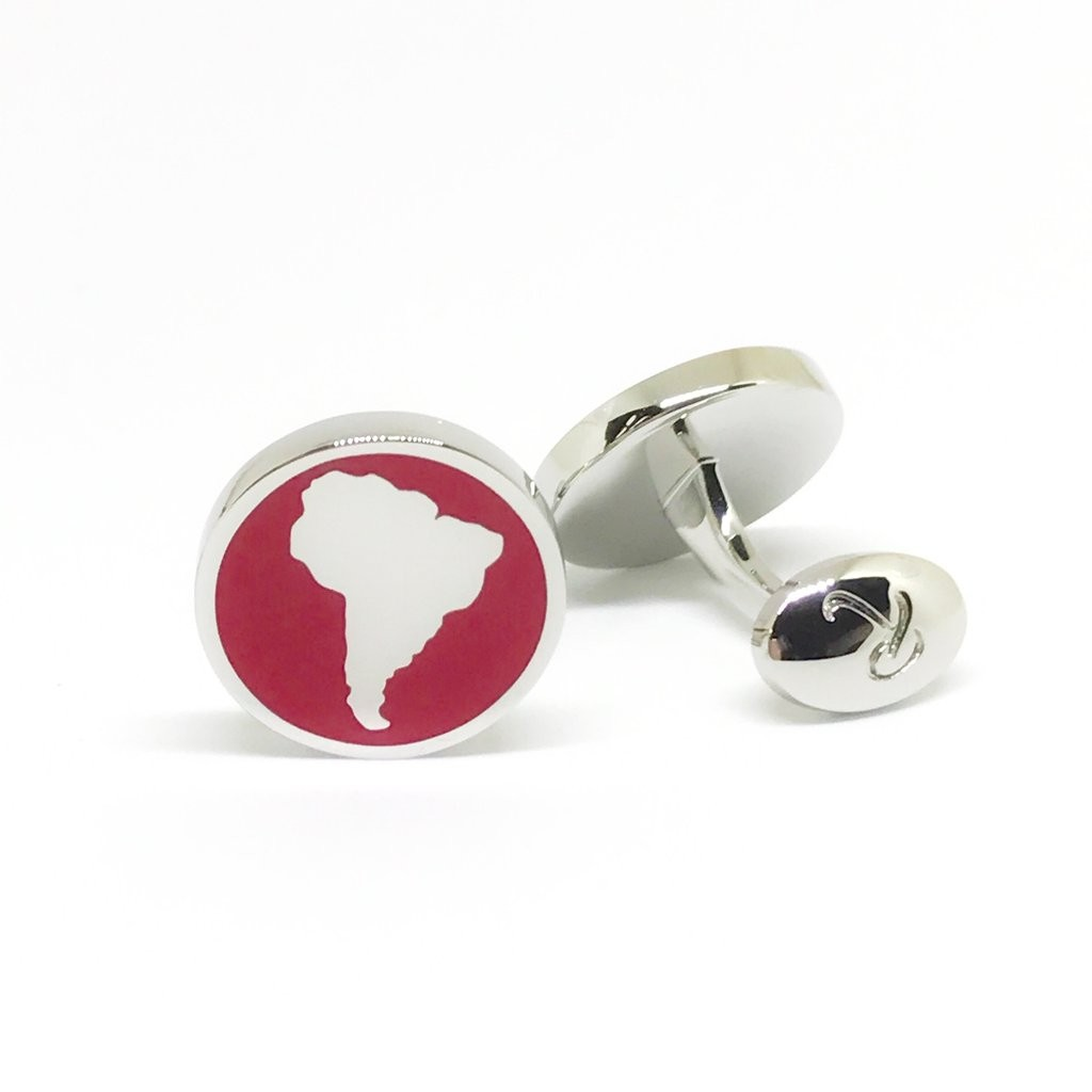 Reddendi Latin America Silver Cufflinks Red 2