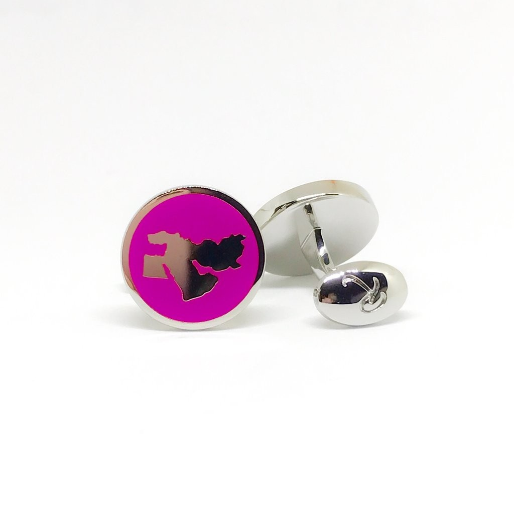 Reddendi Middle East Silver Cufflinks Purple 1